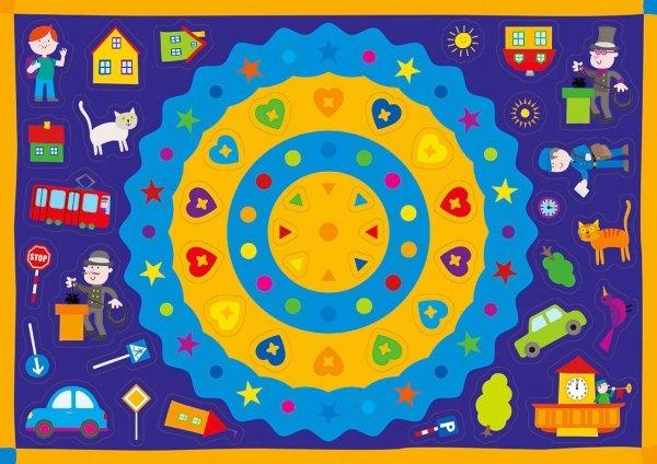 Kolorowanka z naklejkami ZAGADKI MAŁEGO MIASTECZKA 3+ (43317)