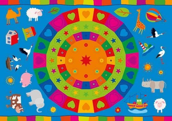 Kolorowanka z naklejkami OPOWIEŚCI O ZWIERZĘTACH BOCIAN KLEKOTEK 3+ (43324)