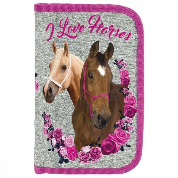 ZESTAW 4 el. Tornister Szkolny Ergonomiczny M I Love Horses KONIE (TEMKO13)