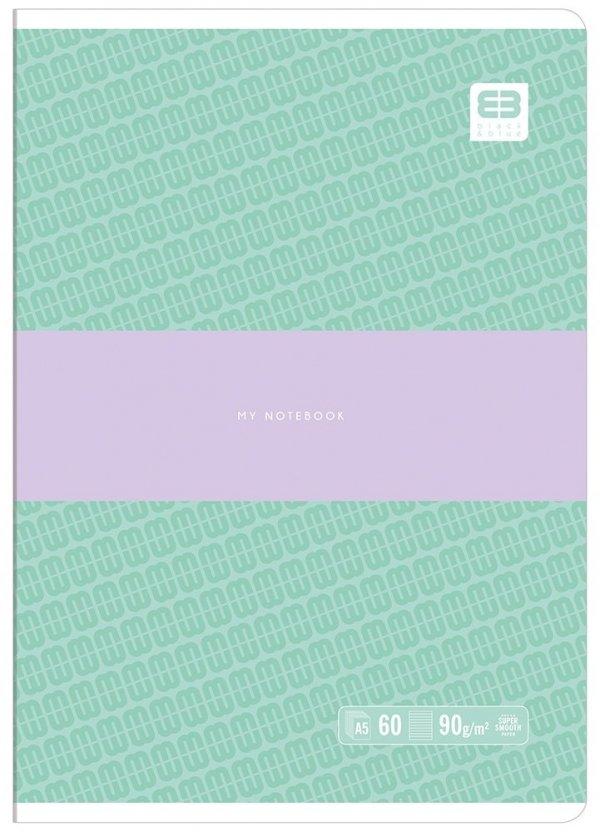 Zeszyt A5 60 kartek w linię BB PASTEL Turkus (55617)