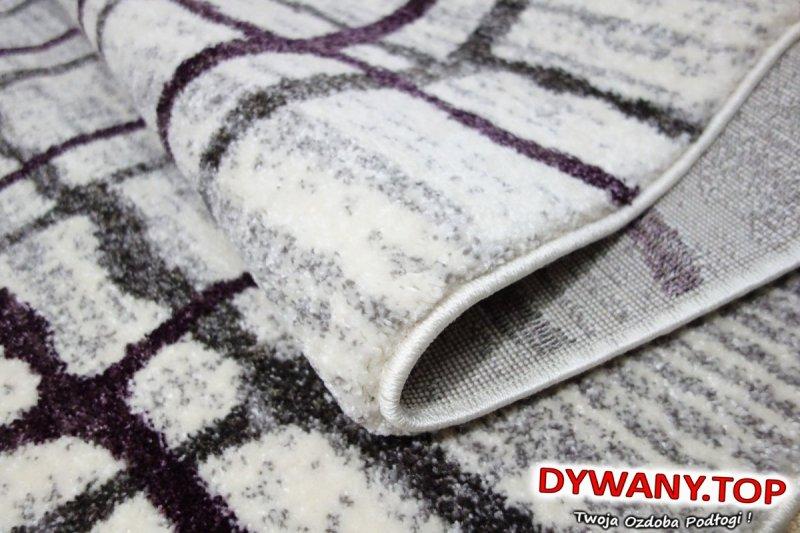 dywan w kratę fioletowa