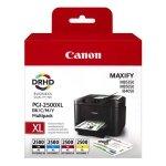Canon oryginalny ink PGI-2500XL Bk/C/M/Y multipack, black/color, 9254B004, Canon MAXIFY iB4050, MB5050, MB5350