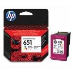 HP oryginalny ink C2P11AE, HP 651, tri-colour, 300s, HP DeskJet IA 5645, 5575, Officejet 202,252 Mobile