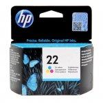 Oryginalny, kompatybilny Tusz HP 22 do Deskjet 3940/D2360/D2460/F380   165 str.   CMY
