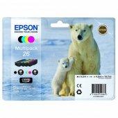 Epson oryginalny ink C13T26164010, T261640, CMYK, 3x4,5/6,2ml, Epson Expression Premium XP-800, XP-700, XP-600