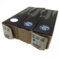 Zestaw trzech tonerów HP 126A | 3 x 1000 str. | CMY | Uszkodzone Opakowanie