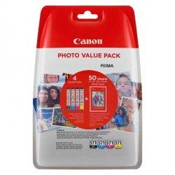 Canon oryginalny ink 0332C005, cmyk, CLI-571XL C/M/Y/BK + 50x PP-201, Canon Pixma MG6850,MG6851,MG6852,MG6853,MG7750, MG5750