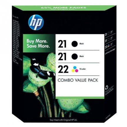 HP oryginalny ink SD400AE, HP 21 + HP 21 + HP 22, black/color, 2x190/165s, 3szt, HP