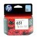 Oryginalny, kompatybilny Tusz HP 651 do DeskJet 5645 | 300 str. | CMY