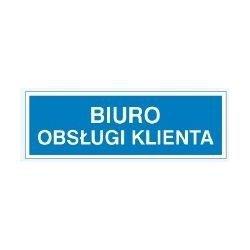 Znak BIURO OBSŁUGI KLIENTA 801-82 F.Z.