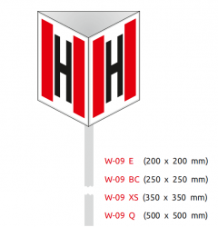 Znak przestrzenny hydrant 200X200