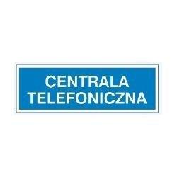 Znak CENTRALA TELEFONICZNA 801-83 F.Z.
