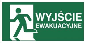 Znak wyjście ewakuacyjne w lewo  E01-WE P.F. 150X300