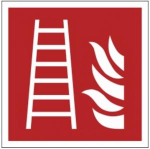 Znak drabina pożarowa F03 (FZ) 150x150