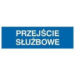 Znak PRZEJŚCIE SŁUŻBOWE 801-12 P.Z.