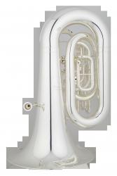 ANDREAS EASTMAN tuba Bb EBB623S, PROFESSIONAL, 5/4, 4 wentyle obrotowe, posrebrzana, z futerałem