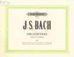 BACH Johann Sebastian: Orgelwerke Band 9  (C.F. Peters)