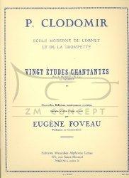 Clodomir Pierre - Francois: Dwadzieścia śpiewnych etiud na kornet lub saxhorn, Ecole moderne du cornet et de la trompette