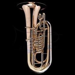 WESSEX tuba F Berg model TF435L lakierowana, wentyle obrotowe, z futerałem