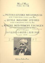 Moyse M.: 24 Petites etudes Melodiquesavec variations na flet