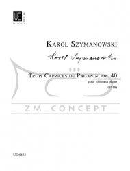 Szymanowski, Karol: 3 Caprices de Paganini op. 40: na skrzypce i fortepian
