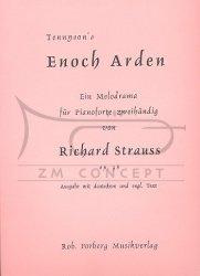 Strauss, Richard: Enoch Arden op.38 : Melodram für Sprecher und Klavier Klavierauszug (Klavierstimme)
