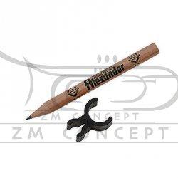 ALEXANDER ołówek z logo, okrągły, krótki