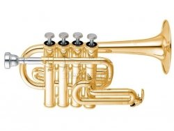 YAMAHA trąbka piccolo A/B YTR-6810 lakierowana, z futerałem