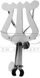 RUKA lirka do trąbki na rurkę ustnikową, 1 przycisk z mocną sprężyną, 140x85 mm, niklowana