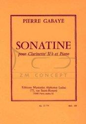 GABAYE: Sonatine: klarnet i fortepian