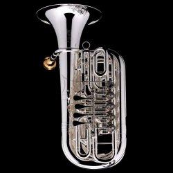WESSEX tuba F/Eb Bubbie 5 model TF135S posrebrzana, wentyle obrotowe, z futerałem