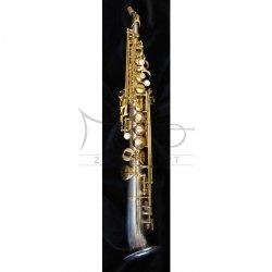 RAMPONE&CAZZANI saksofon sopranowy R1 JAZZ, 2003/SNS Half-Curved saxello, Vintage Nickel-Silver