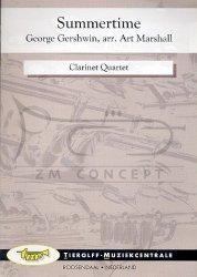 Gershwin, George  Summertime: na 3 klarnety i klarnet basowy - partytura + głosy