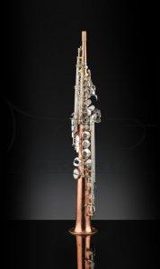 RAMPONE&CAZZANI saksofon sopranowy Bare Copper, 2002/SC (korpus z miedzi, oklapowanie posrebrzane)
