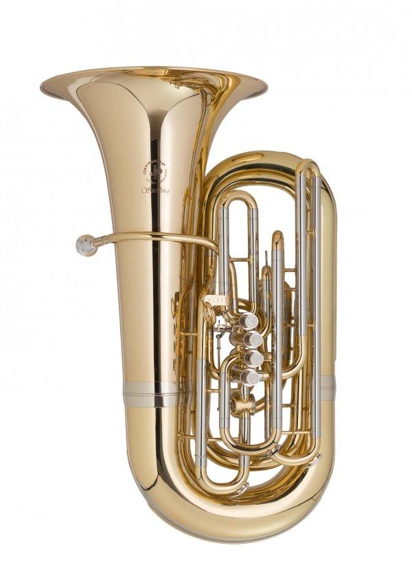 JOHN PACKER tuba C model JP379CC Sterling, lakierowana, z futerałem