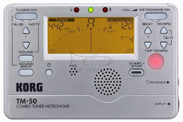 KORG metro-tuner chromatyczny TM50 SL srebrny