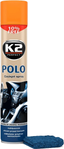 K2 POLO COCKPIT BRZOSKWINIA + MIKROFIBRA 750ml do kokpitu