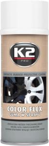 K2 COLOR FLEX Guma w sprayu biały 400ml