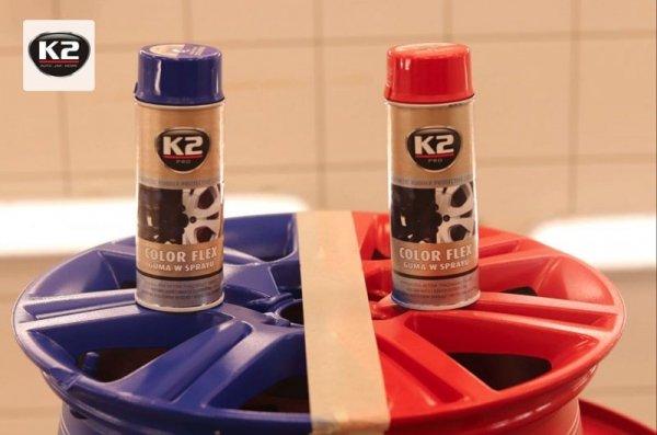 """K2 COLOR FLEX Guma w sprayu """"jasno zielony"""" 400ml"""