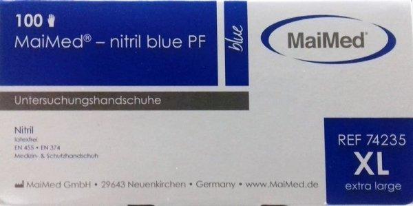 Rękawiczki nitrylowe jednorazowe 100szt rozmiar XL cert.