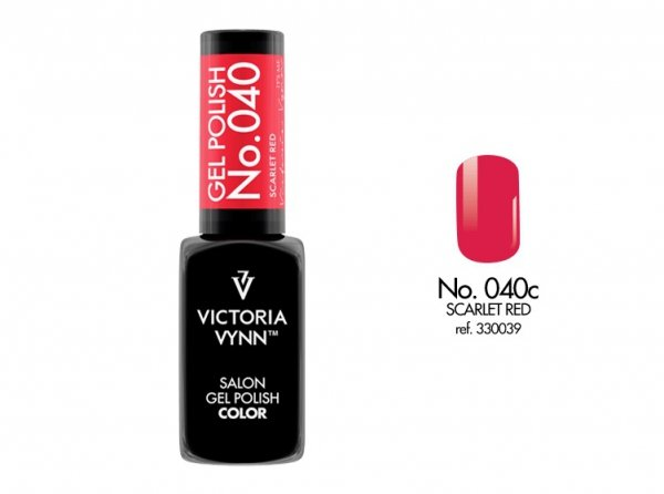 Victoria Vynn Lakier hybrydowy 040c 8ml SCARLET RED Gel Polish COLOR Victoria Vynn