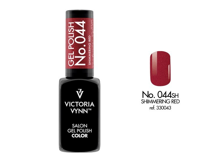 Victoria Vynn Lakier hybrydowy 044sh 8ml SHIMMERING RED Gel Polish COLOR Victoria Vynn