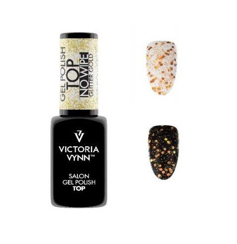Victoria Vynn TOP NO WIPE GLITTER gold Top hybrydowy