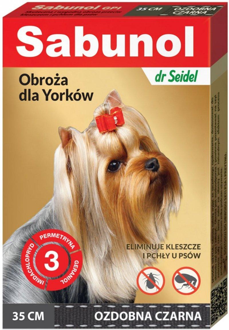 Sabunol Obroża przeciw pchłom i kleszczom dla psów 35cm - czarna