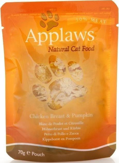 Applaws saszetka dla kotów Kurczak & Dynia 12x70g