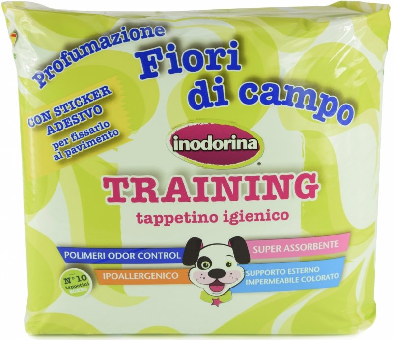 Inodorina Training Podkłady treningowe o zapachu polnych kwiatów 60x60cm - 10szt.