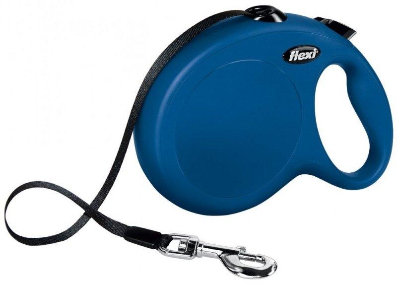 Flexi New Classic taśma L 8m niebieska - smycz automatyczna