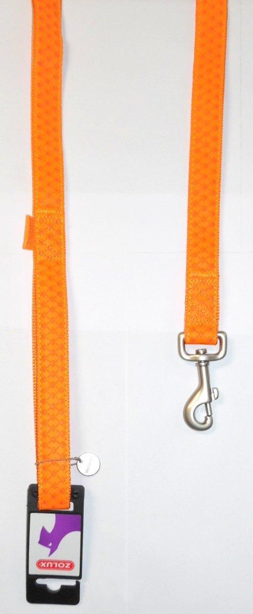 Smycz Mac Leather 25mm/1,2m pomarańczowa