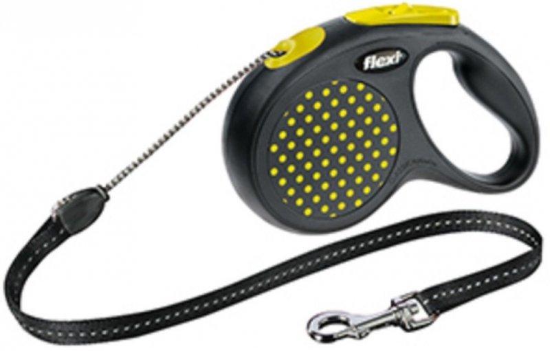 Flexi Design M linka 5m - do 20kg - żółta
