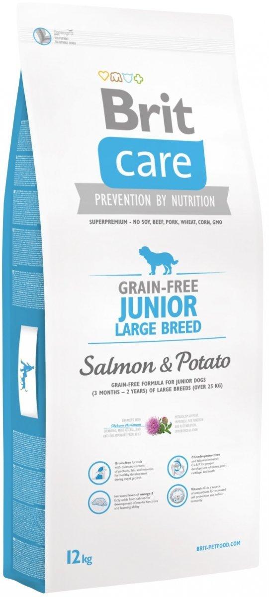 Brit Care Junior Large Breed Grain Free Salmon & Potato 12kg